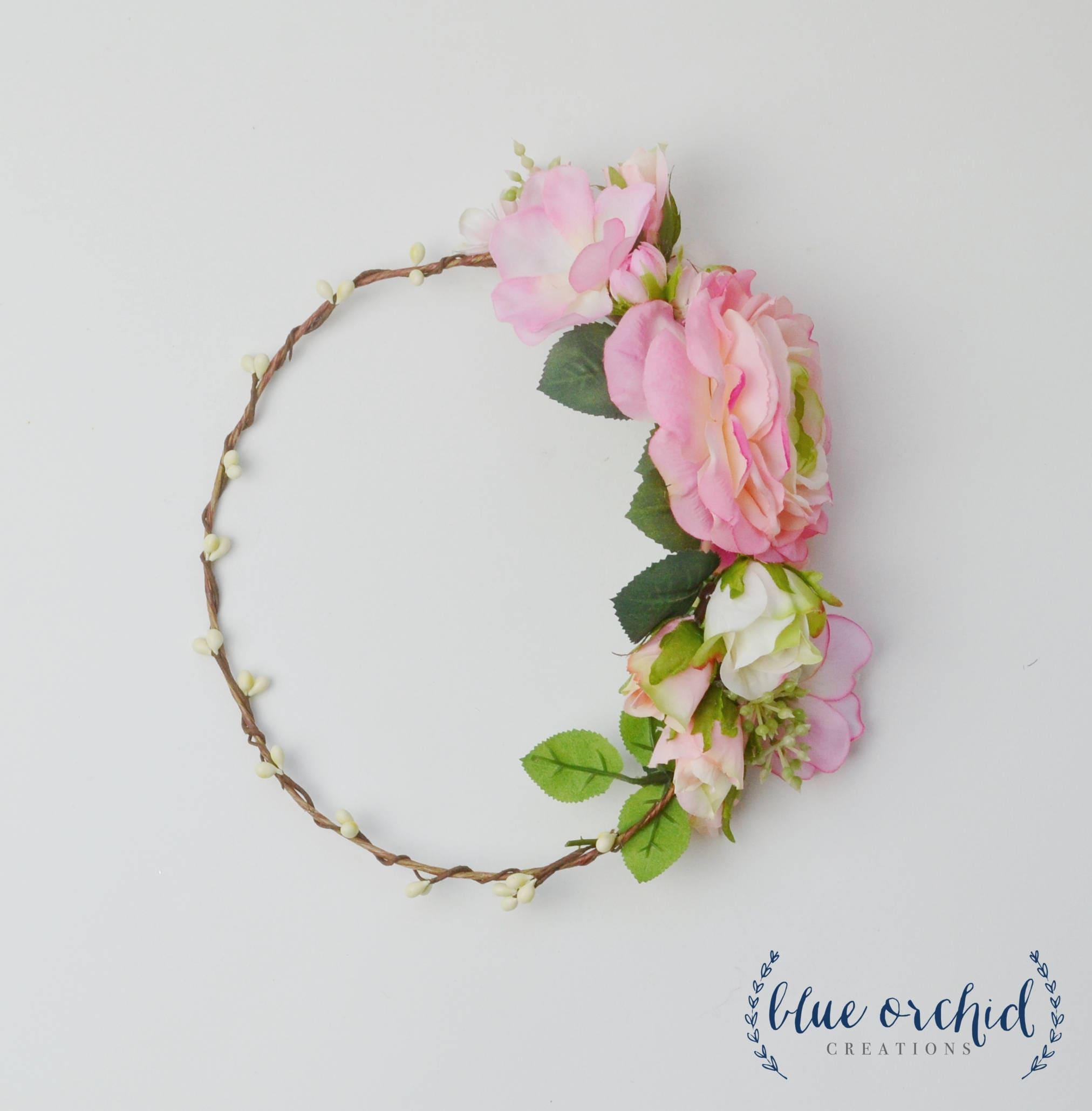 Flower crown silk flower crown floral crown peony flower zoom izmirmasajfo