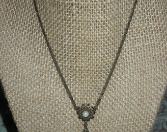 AMETHYST ANTIQUE Pendant Necklace Sterling Beautiful