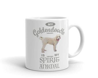 My Goldendoodle is My Spirit Animal Mug made in the USA