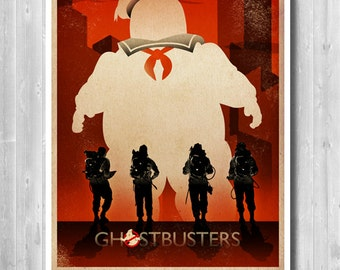 Ghostbusters Stay Puft Poster, Ghostbusters Poster, Movie Art, Ghostbusters print, Ghostbuster Retro, Art, Ghostbusters Alternative poster