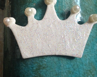 Crown Christmas ornament crown ornament sparkly crown sparkle crown jewels pearl crown princess crown