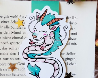 "Magnetic bookmark ""Dragon Haku""-inspired by spirited away journey to the magic land"