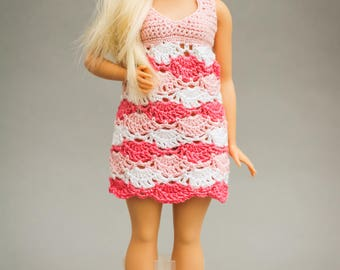 Curvy Barbie doll dress - plus size doll dress for curvy fashionistas, curvy Barbie fashion, Barbie doll clothes