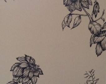 Flower notepaper