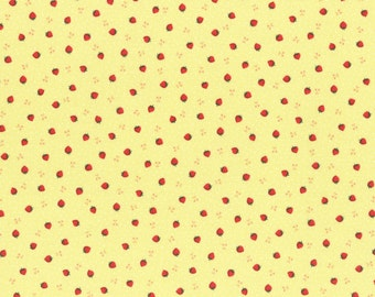 Yellow Tiny Strawberries from the 1930's Collection by Lecien Fabrics