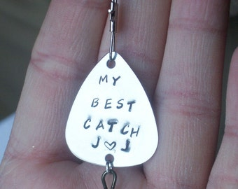 Fishing Lure, Fishing, Lure, Custom Lure, Handstamped Lure, Customized Lure, Handstamped Fishing, My Best Catch, Stanless Lure, Fishing
