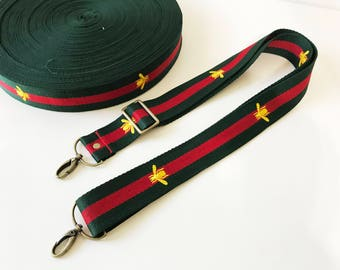 """1.5"""" Striped Color Canvas Webbing strap ,Replacemwnt Bag Strap.Embroidery webbing straps"""