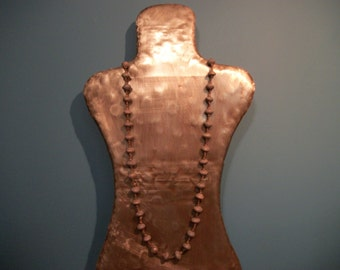 Matte Brown Beaded Necklace