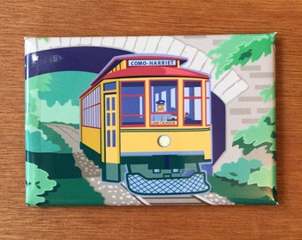 Trolley, Streetcar, Minneapolis,MN, magnet