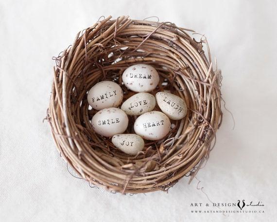 Nice Gifts For Women Birds Egg Nest Shabby Home Decor Egg Print