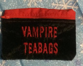 Vampire teabag toiletry bag