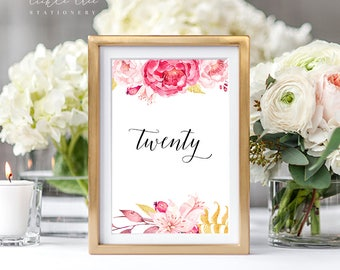 Passion - Table Numbers (Style 13616)