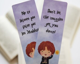 Ron Weasley paper bookmark