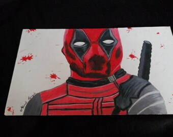 Deadpool colored pencil drawing