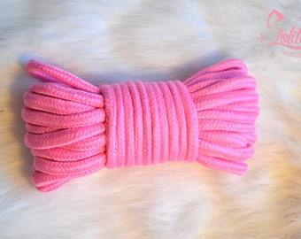Beautifully Bound ~ Shibari/Bondage pink cotton rope