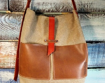 Linen fabric handmade bag, tote, Messenger bag, beach bag, shopping bag, Linen boho bag, crossbody bag, summer bag, shoulder bag, cotton