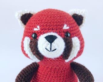 PATTERN: Rudy the Red Panda, red panda amigurumi, red panda amigurumi pattern, red panda pattern, red panda crochet pattern