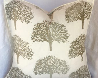 Orchard Trees Pillow Cover with Corded Edges