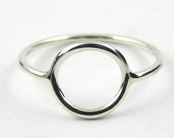 Sterling Silver Circle Ring, Karma Ring, Sterling Silver Ring, Skinny Ring, Open Circle Ring, Slim Ring, Modern Eternity Ring