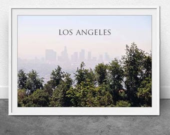 LA Landscape, DIGITAL Download, Los Angeles, Travel Print, Photography, Landscape Print, Wall Art, Home Decor, Instant File, 11x16 inch file