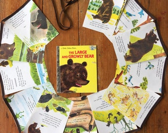 little golden book bunting - the large and growly bear