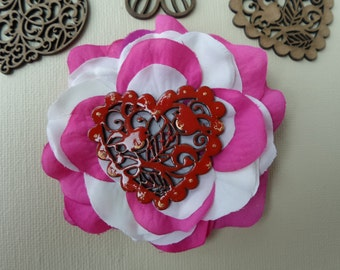 Hair clips for women~Valentines day hair barrette~Valentines day hair accessorie~Valentines day hair clip