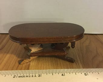 Dollhouse furniture vintage wooden coffee table
