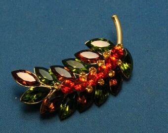 Vintage Joan Rivers Sparkling Rhinestone Pin Brooch - Fabulous!