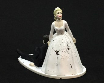 Hell Hath No Fury... Greusome Murder Divorce Party Cake Topper