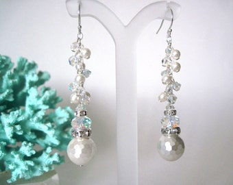 pearl earrings  perfect for brides or wedding party