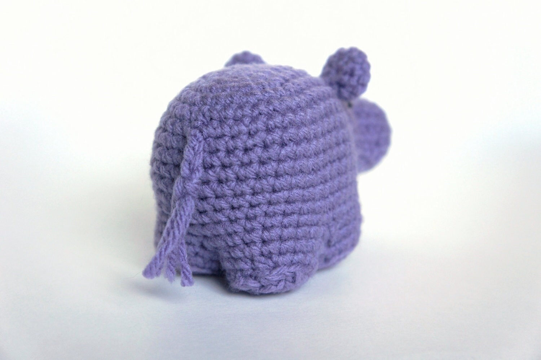 Free Amigurumi Hippo Pattern : Amigurumi crochet hippo pattern from mspremiseconclusion on etsy