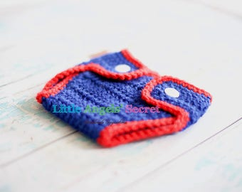 Baby crochet baseball diaper, photo prop, baby crochet diaper, baseball accessories, Crochet baseball accessories, Crochet Diaper.