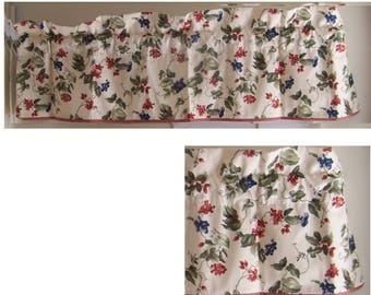 Waverly Orchard trail valance red gingham trim