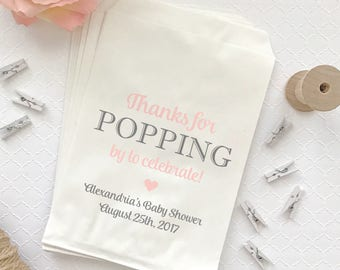 Thanks for popping by popcorn bags (30) - Thanks for popping by bag - Candy bags - Treat bags