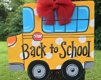School Bus Door Hanger