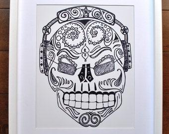 Rock & Roll Skull