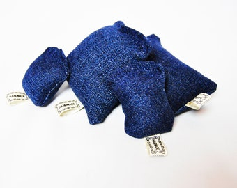 Handmade Organic Catnip Stuffed Denim Cat Toy