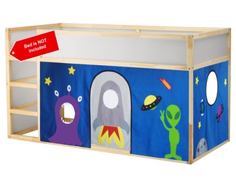 Space and alien theme bed curtain
