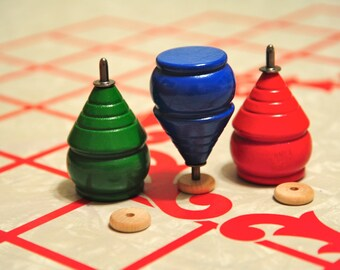 Classic Trompo Wooden wood Spinning Top Size- about 3""