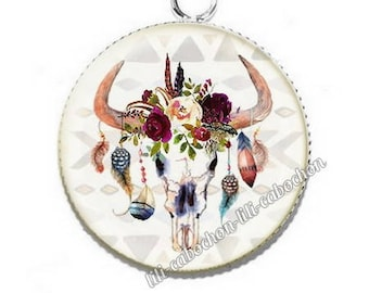 Ethnic Dreamcatcher av29 flowers resin pendant cabochon