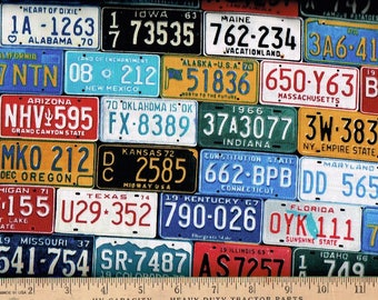 Licence Plates Timeless Treasures