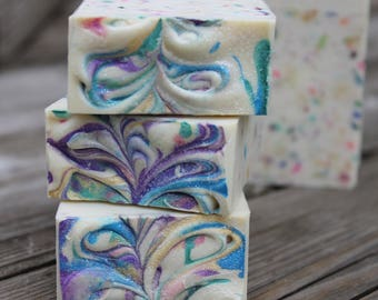on sale | SWEET SPRINKLES SOAP |  Cold Process Soap | Confetti Soap | Pinkberry Mimosa | Bar Soap | Bath and Body |Coconut Milk Soap