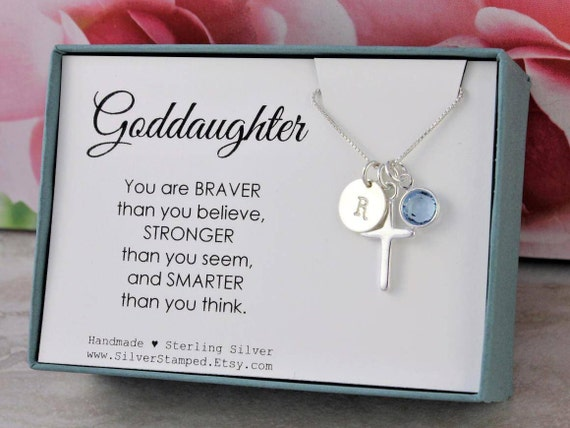 Easter gift for goddaughter gift necklace sterling silver like this item negle Gallery