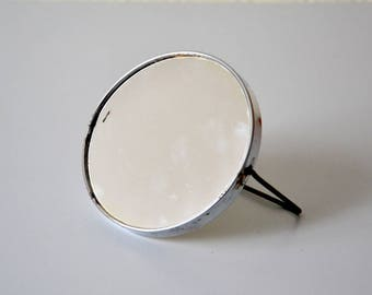 Vintage barber Mirror / 60s magnifying mirror