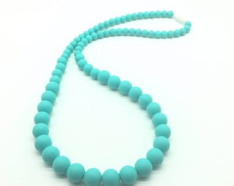 Necklace for Teething | Silicone Necklace | Teething Beads | Silicone Beads | Necklace for Mom | Chew Necklace | Baby Shower Gift