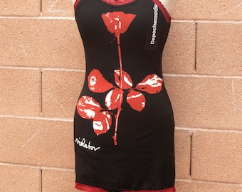 Depeche Mode Violator strappy slip dress