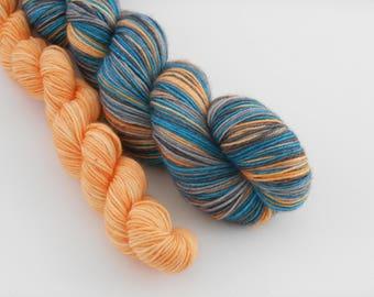 LOVE SOCK self-striping, 028, merino nylon sock yarn,100g
