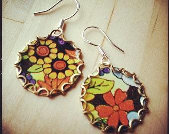 PEONY FIELD Tea Tin Floral Earrings