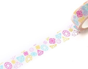 Schattig Diamond Washi Tape 15mm / Diamond Masking Tape / cadeau verpakking Washi / Planner Washi / Deco Tape/lente zomer Washi Tape