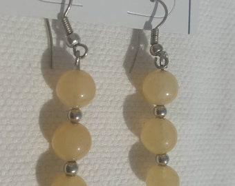 Earrings in semi precious stones